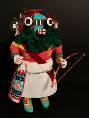 VINTAGE HOPI HAND-CARVED & PAINTED COTTONWOOD KACHINA DOLL, EXCELLENT CONDITION