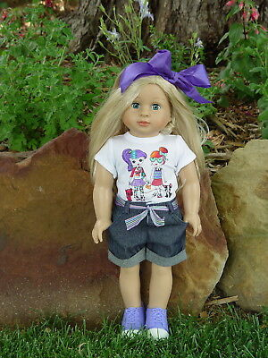 American Fashion World Doll ~ Emma ~ 18 Inch Girl ~ With Light Skin Tone