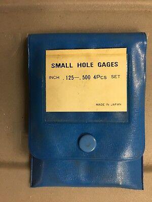 Small Hole Gage 4 Piece Set .125 - 500