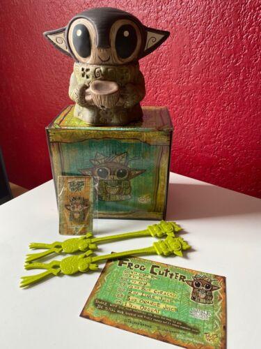 Tiki Tony Baby Yoda Tiki Mug w/ Pin and 2 Swizzles Tikiland Trading Company