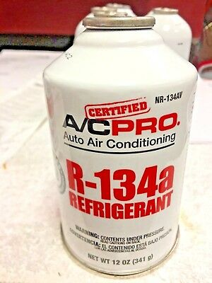 R134a Refrigerant Ac Pro New Epa Required Self-sealing Can12 Oz. 341 G.