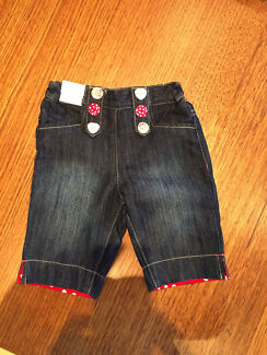 Baby girl denim wide jeans (size 1) New with tags