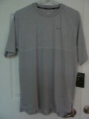 Men's Nike Dri-Fit Medalist Running Top DRY Knit Shirt 891426 101 Size M, (Running Top Mens)
