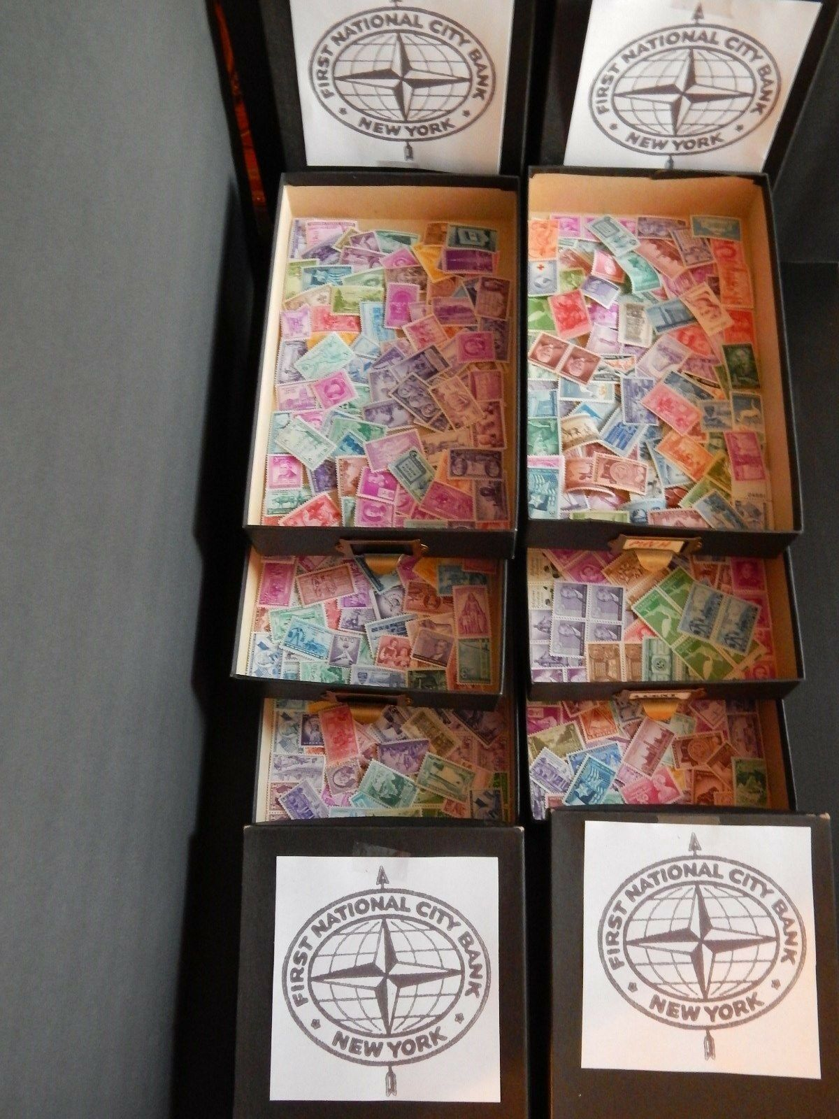 50+ Year Old Bank Vault Hoard Cleanout Receive 36 Stamps from Hartz Hoard Lot