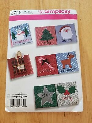 Simplicity CRAFT Pattern 2726  Child's SOFT BOOK Christmas Holiday UNCUT ()