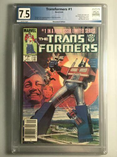 Transformers 1 - PGX - 7.5 - 1st Appearance Autobots & Decepticons - Newsstand
