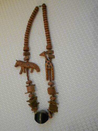 """handcrafted safari wooden necklace-vg++  15"""""""