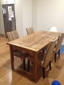 Dining table & chairs Elanora Heights Pittwater Area Preview