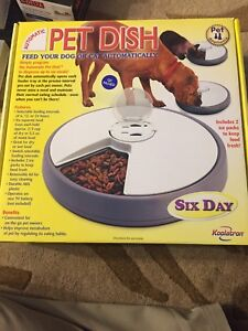 Automatic pet feeder 6 day programmable feeder for cat and dog