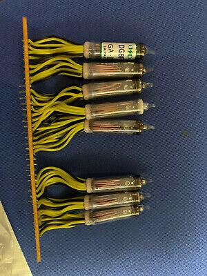 Dg8f Array Of 8 Vacuum Fluorescent Display Vfd Tubes Ise Japan Rare