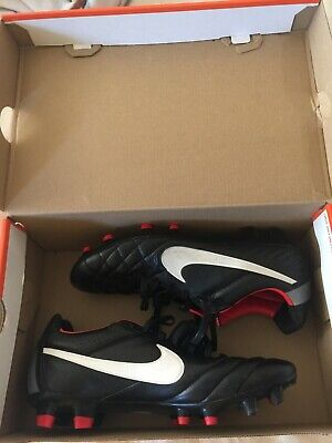 🔥 RARE Nike Tiempo Legend IV FG K-Leather 454316-010 Soccer BLK Cleat U.S Men 8