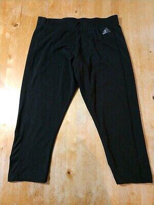 Womens Adidas athletic cropped capri pants leggings size L large black -
