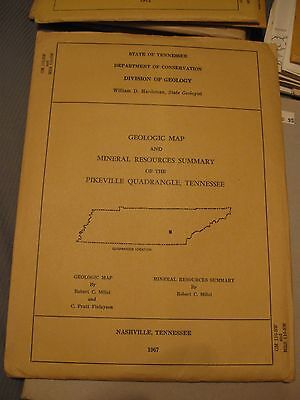 Geologic Map and Mineral Resources Summary of the Pikeville Quadrangle, TN