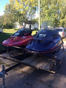 2 - 670 twin skidoo sleds for sale or trade