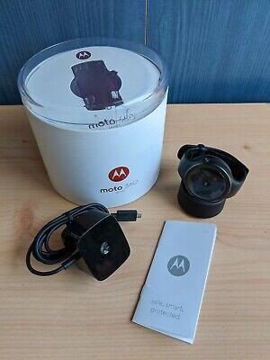 Motorola Moto 360 Sport 45mm Black Smart Watch - Boxed, VGC