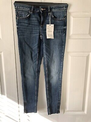Zara Mid Rise Skinny Jeans Size 6