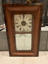 Seth Thomas Ogee Wall Clock/Weights And Winder