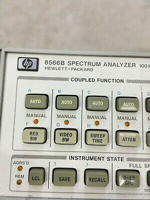 Agilent Hp 8566b Spectrum Analyzer 100hz 2.5ghz 2-22ghz 4
