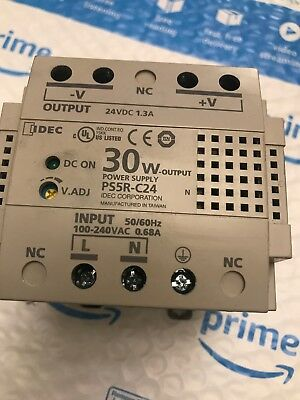 Idec 30 Watt Power Supply Ps5r C24 Input 100-240 Vac To 24 V 1.3 Amp Used
