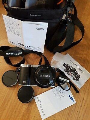 Samsung NX3000 Mirrorless Camera with 16-50mm OIS Lens, Flash, Camera Bag.
