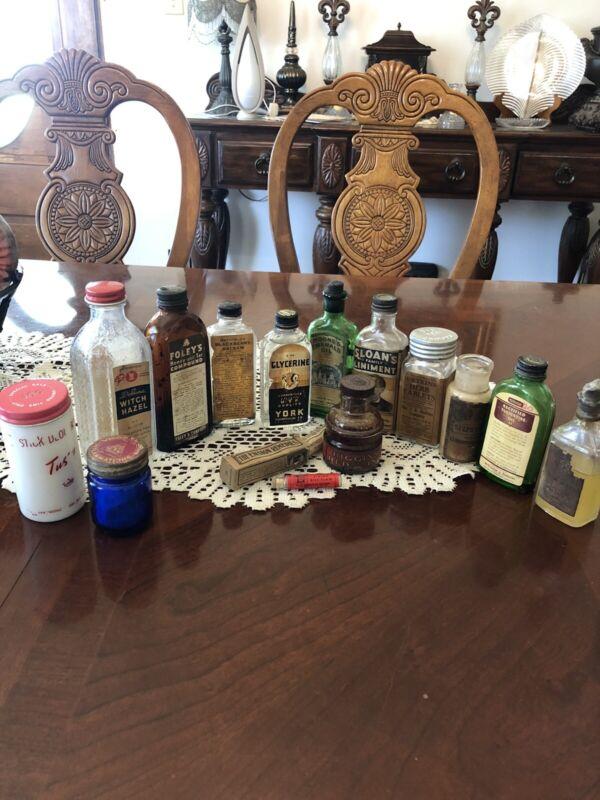 Antique / Vintage Medicine Bottles . Lot Of 15.