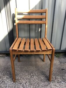 4 x pine dining chairs.