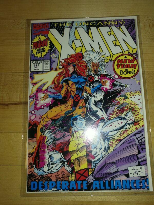 UNCANNY X-MEN #281 - NEW TEAM LINE-UP! MARVEL COMICS, STORM, COLOSSUS, JEAN GREY