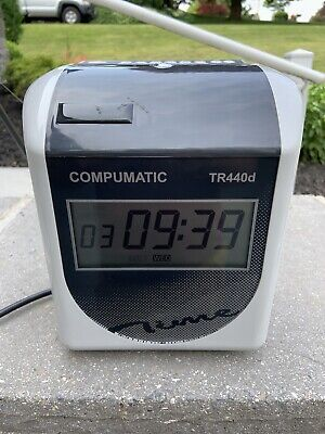 Compumatic Tr440d Heavy Duty Time Clock  Ribbon Used