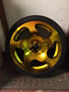 "4 - 18"" 5X100 JNC Wheels W/ 215/40R18 Tires"