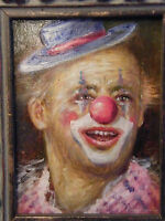 Aceite Sobre Aglomerado Achille Zavatta Clown Por Jean Baptiste Fournier -  - ebay.es