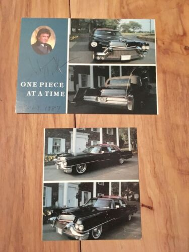 Johnny Cash Signed Photo Postcard Autographed One Piece at a Time Autograph