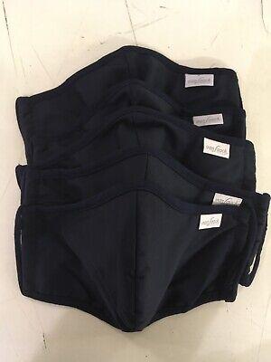 5x Mund Nasen Maske Bedeckung, van Laack, Marineblau, waschbar.