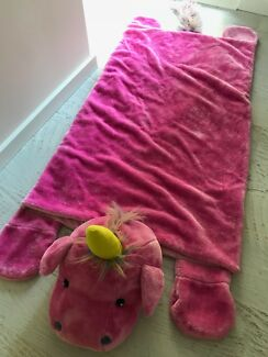 Kids Pink Unicorn Sleeping Bag