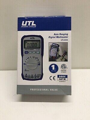 Uei Test Instruments Utldm2 - 600v Auto Ranging Digital Multimeter With T... New