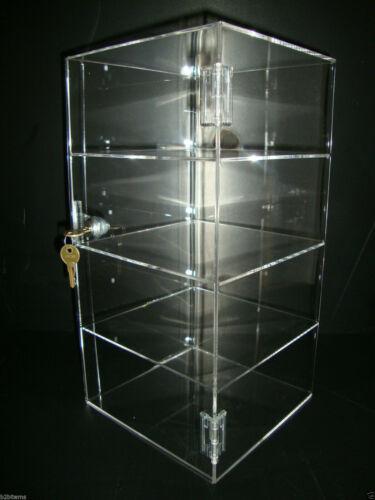 "DS-Acrylic Countertop Display 8"" x 8"" x 16"" Locking Security Showcase CUPCAKE"
