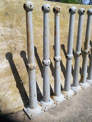 Cast iron railing post. Good condition.