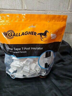 Gallagher T-post Horse Tape Insulator For Permanent Fences 40 Insulators