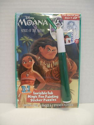 Disney MOANA Invisible Ink & Sticker Book (Invisible Ink Book)