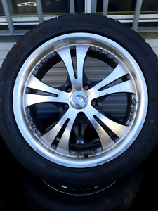 2355/45R17 wheels with almost new tyres suitable for  magna Coopers Plains Brisbane South West Preview