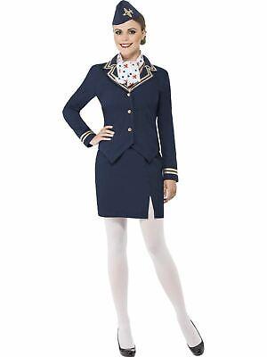 Air Hostess Flight Attendant Cabin Crew Womens Uniform Ladies Fancy Dress - Air Hostess Uniform Kostüm