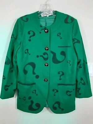 The Riddler Jacket (DiY Bert Newman Green Jacket The Riddler costume Halloween Batman comics Size)