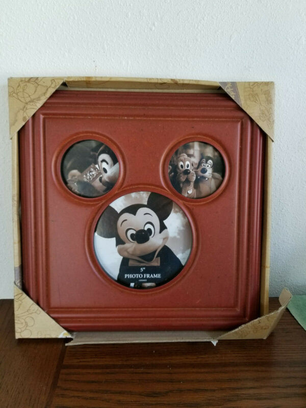 Disney World Mickey Mouse Ears Wooden Picture Frame