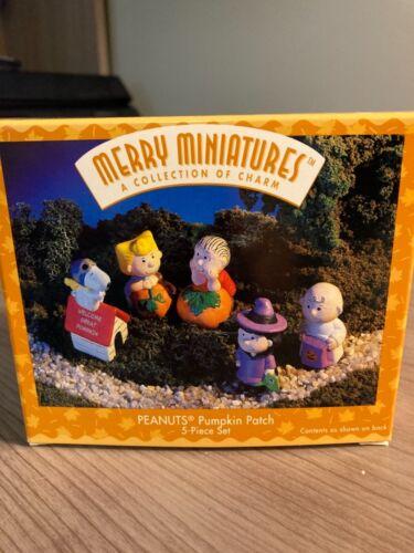 1996 Hallmark Merry Miniatures Peanuts Pumpkin Patch 5 pc set MIB