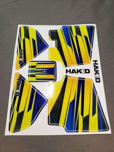 Hakko Decal Sticker Sheet for the FX888D, Blue/Yellow, Decal/Sticker Sheet ONLY