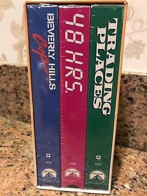 RARE VHTF NEW EDDIE MURPHY COLLECTION - VHS - BEV HILLS COP 48 HRS TRADING PL