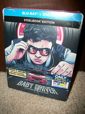 NEW Baby Driver Limited Edition STEELBOOK on BLU-RAY + Digital HD
