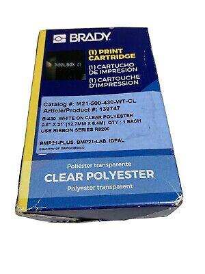 Brady M21-500-430-wt-cl Label Tape Cartridgepermanent Printer