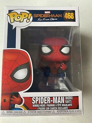 Funko Pop Spider-Man Far From Home: Spider-Man Hero Suit #468 Bobble-Head Figure