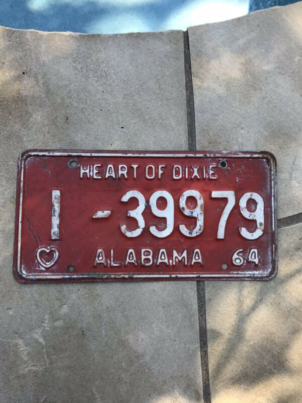 1964 ALABAMA LICENSE PLATE 1 39979