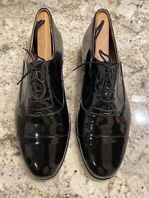 Bally Doppio 2 Patent Leather Formal Tuxedo Shoes Mens US 10 Made In Italy